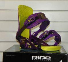 New 2014 Ride Rodeo Snowboard Bindings Large Purple