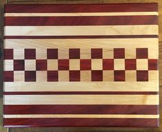 Cutting Board Rock Maple and African Padauk by MainelyWoodWorks