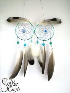 Blue Owl Dream Catcher.