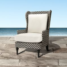 Seabrook Outdoor Lounge Chair in Weathered Grey