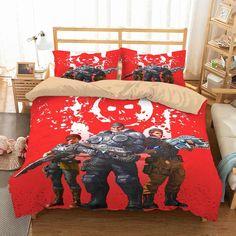 Customize Gears Of War Bedding Set Duvet Cover Set Bedroom Set Bedlinen