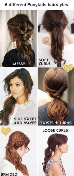 6 Different Ponytails | Your Fairy Godmother