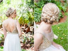 Long locks are beautiful, but nothing says elegance like an updo! These delicate designs are perfect for tropical weddings and keep your hair from wilting in the heat and humidity. Bringing the hair away from your face allows your groom and guests to see your true beauty on the big day. Whether you choose a simple bun, low chignon, or tousled sideswept we love the simplicity and ease these gorgeous techniques provide. Check out these amazing ideas. one, two, three, four, five, six, seven…