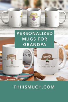 Unique gifts for unique Dads. Surprise Dad with this personalized coffee mug. Fathers Day Gift Guide. Gifts for dad. Dad gifts. Personalized gifts. Personalized Mug. Coffee Mugs. Custom Coffee Mug. Gifts for Grandpa. Grandpa Gifts. Gifts for him. Gifts for the boyfriend. Gifts for Hubby. Boyfriend Gifts. Hubby Gifts. #fathersday #fathersdaygift Personalized Gifts For Dad, Customized Gifts, Grandpa Gifts, Gifts For Father, Gift Guide, First Love, Coffee Mugs, Christmas Gifts, Presents