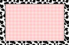 Rosa Xadrez e Vaquinha – Kit Completo com molduras para convites, rótulos para guloseimas, lembrancinhas e imagens! |Fazendo a Nossa Festa
