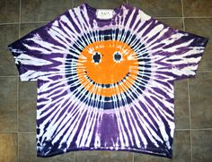 TIE DYE SMILEY FACE SPIRAL T-SHIRT Orange Purple 4XL Champion Cotton Tee Shirt  #Champion #GraphicTee #jawdropping #joint #jawdroppingnifty3 #tiedye #love #fashion #smiley #smile #happy #face #happyface #whatcolorhappy #color #happylife #purple