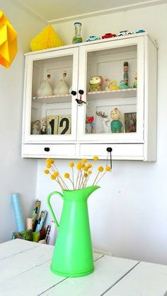 a fabulous wall mounted kitchen cabinet