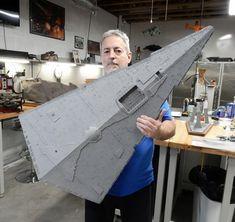 Star Wars Spaceships, Lego Army, Sci Fi Models, Star Wars Set, Star Wars Concept Art, Star Wars Models, Model Maker, Star Destroyer, Model Kits
