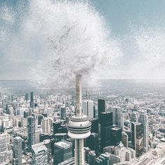 Get wet this weekend. #Summer #RepYourCity #OutlineTheSky #Toronto #Skyline Photo©: @swopes