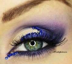 New Year's Eve inspired make-up idea a little too much for me but pretty