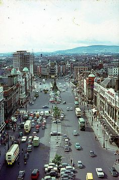 old foto all Ireland - Strona 2 O Connell st dublin Cork Ireland, Dublin Ireland, Ireland Travel, Dublin Street, Dublin City, Old Pictures, Old Photos, Images Of Ireland, Ireland Pictures