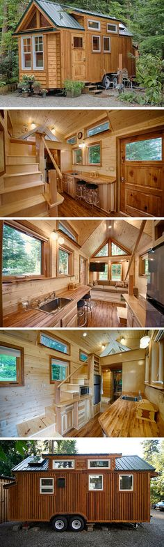 The Hope Island Cottage a 170 sq ft tiny house on wheels. There's actually T… The Hope Island Cottage a 170 sq ft tiny house on wheels. There's actually Tiny House On Wheels Cottage Hope House Island Tiny Wheels Small Houses On Wheels, Casa Loft, Tiny House Nation, Tiny House Movement, Tiny House Living, Cottage House, Tiny Spaces, Tiny House Plans, Tiny House 200 Sq Ft