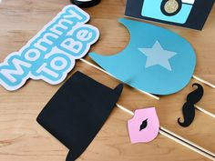 Baby Shower Photo Booth Props Baby Shower by CMCraftStudio