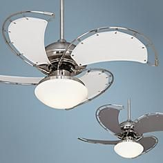 """40"""" Aerial Brushed Nickel Ceiling Fan with Light Kit"""