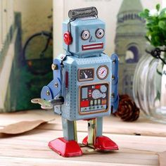 Dynamic top Adult Collection Retro Wind Up Toy Metal Tin Moving Arms Swing Alien Robot Mechanical Clockwork Toy Figures Kids Gift A Wide Selection Of Colours And Designs