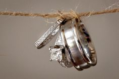 The Rings (photo by JoPhoto) #weddings #rustic
