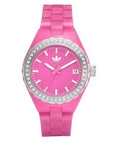pink adidas watch