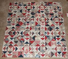 It's the cat's house, I just live here.: I must make a random direction flying geese quilt with various shades of background.  I must.