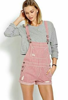 76b4fe7a Overall Shorts Outfit, Cute Overalls, Outfits Mujer, Short Jumpsuit,  Jumpsuits For Women