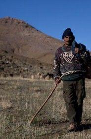 On the Road….Shepherd, Atlas Mountain Range, Morocco