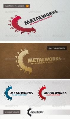 Buy Metalworks by on GraphicRiver. Logo suitable for various purposes like metalworks, construction business etc. The AI and EPS files are fully editabl. Logo Desing, Vector Logo Design, Construction Business, Construction Design, Portfolio Logo, Portfolio Design, Welding Logo, Logos, Construction Birthday Parties