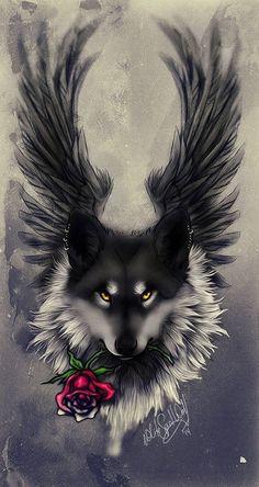 44 Ideas tattoo wolf ideas spirit animal black wolves for 2019 Wolf Tattoo Design, Wolf Tattoos, Fantasy Kunst, Fantasy Art, Wolf Artwork, Fantasy Wolf, Wolf Spirit Animal, Wolf Wallpaper, Iphone Wallpaper