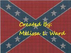 Crochet Patterns Rebel Flag : flag graph FREE: Confederate Rebel Flag Graphgan Crochet Pattern ...