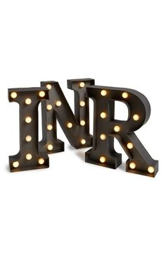 CREATIVE CO-OP Timed LED Marquee Initial Lights available at #Nordstrom