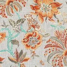 Waverly Williamsburg Braganza Persimmon    BUY NOW:   http://shop.thefabricfinder.com/Waverly_Williamsburg_Braganza_Persimmon.aspx