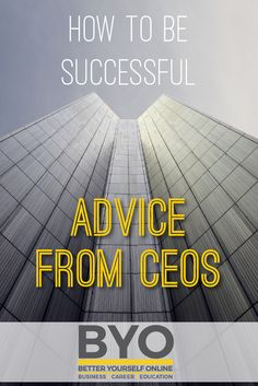 How To Be Successful - Advice From CEOs Achieve Success, Career Education, Entrepreneurship, Life Lessons, Motivational Quotes, Advice, Business, Successful People, Tips