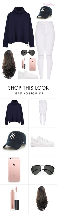 """I spy"" by fashionova1 ❤ liked on Polyvore featuring Ille De Cocos, '47 Brand, NIKE, Yves Saint Laurent and MAC Cosmetics"