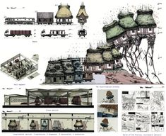 """Image 5 of 9 from gallery of Are These """"The World's Best Graduation Projects"""" of 2017?. 'A Different Kind of Museum' by Andrei Puică (Timisoara, Romania) recycles abandoned rural homes. The plan addresses conservation, modernity, urbanization and cultural identity in one gesture. The project was selected as participants' favorite (19 votes). Image Courtesy of Archiprix International"""