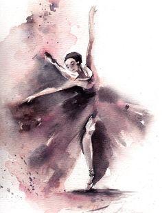 Original Aquarell Ballerina Ballett-Tanz Aquarell Kunst Grau, rosa  Skala: 9.25x11.75 (23 x 30) Medium: Top Marken-Aquarelle Farben auf Wasser kaltes drücken Farbpapier 140 lb (300g)  Vorder- und Rückseite signiert Auf der Rückseite datiert. Nicht gerahmt.  Alle Gemälde sind Geschenk verpackt in einer Cellophan einfügen und Karton Unterstützung bestmöglich zu schützen, von registriert International Mail mit tracking-Nummer ausgeliefert.  Überprüfen Sie für weitere Originalgemälde bitte…