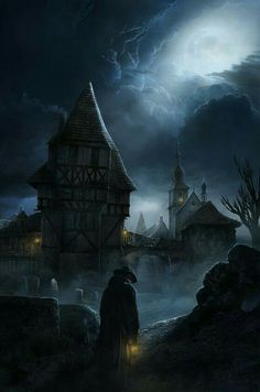 By Yuri Gvozdenko Fantasy City, Fantasy Castle, Fantasy Kunst, Fantasy Places, Dark Fantasy Art, Fantasy Artwork, Fantasy World, Dark Art, Gothic Horror