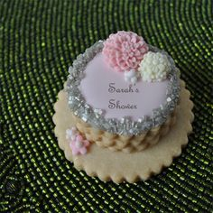 stacked cookies | better way to celebrate than with a chaming miniature stacked cookie ... Wedding Cake Cookies, Wedding Cakes, Iced Cookies, Sugar Cookies, How To Stack Cakes, Face Spray, Edible Creations, Cookie Ideas, Decorated Cookies