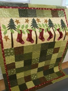 Christmas quilt by JodiG Love this!!  Flannel....ooohhh