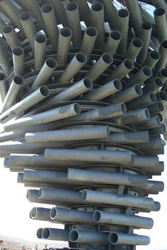 Singing Ringing Tree. This would sound amazing with a small tap or with the wind rushing through it. Clever.