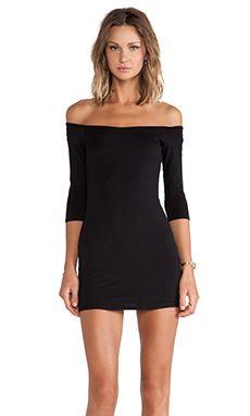 BLQ BASIQ Off The Shoulder Mini Dress in Black | REVOLVE