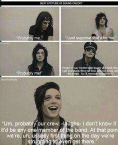 He try's to act all badass and hardcore in his music, but we all know he's just a sweet little guy Lol. I don't care for black veil brides all that much but it like Andy Emo Bands, Music Bands, Rock Bands, Andy Biersack, Vail Bride, We Are The Fallen, Bvb Fan, Black Veil Brides Andy, Andy Black