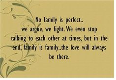 ... No Family Is Perfect ...