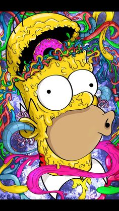 Imagine Homer Simpson as a zombie on LSD. Imagine Homer Simpson as a zombie on LSD. Cartoon Wallpaper, Simpson Wallpaper Iphone, Graffiti Wallpaper, Trippy Wallpaper, Mobile Wallpaper, Hippie Wallpaper, Crazy Wallpaper, Disney Wallpaper, Cartoon Kunst