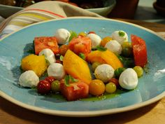 Tomato and Bocconcini Caprese recipe from Geoffrey Zakarian via Food Network