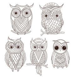 Owl drawings 1                                                                                                                                                                                 Más