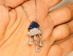 Turkish Handmade Sapphire Topaz Sterling Silver Necklace  | eBay