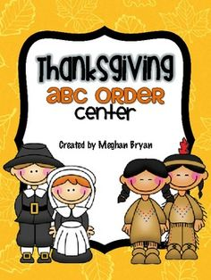 Thanksgiving ABC Order {FREE Center}