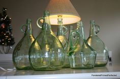 Turning Thrift Store Wine Bottles into Lamps