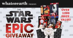 Enter to win the Epic Star Wars Giveaway and help me win! 2 Winners will receive a Star Wars gift basket of our hottest holiday gifts valued at $200+! If you refer someone you can get extra entries too!