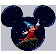 Sorcier Mickey - New Ideas Mickey Tattoo, Mickey Mouse Tattoos, Mickey Mouse Head, Mickey Mouse And Friends, Disney Tattoos, Art Disney, Disney Kunst, Disney Crafts, Disney Stuff