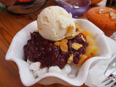 patbingsoo (red bean shaved ice)