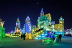 Brave the sub-zero temperatures at the Harbin International Ice and Snow Sculpture Festival in China.